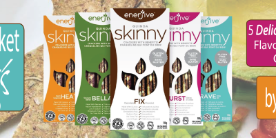 Win a Basket of SKINNY Quinoa Crackers by Enerjive