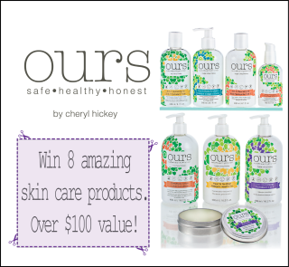 """Win """"ours"""" skin care products – by Cheryl Hickey!"""