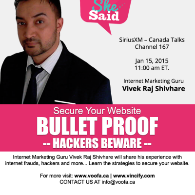 Secure Your Website from Hackers. Get Bullet Proof Website Design | VOOFA.ca