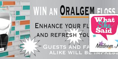 Win an ORALGEM Dental Floss Dispenser!