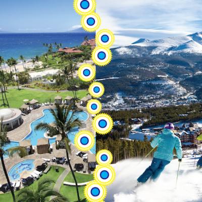 Sun Vs Ski Holidays by Kathy Buckworth