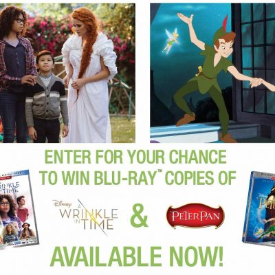 Contest: Disney's A Wrinkle in Time and Peter Pan Blu-ray Giveaway